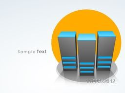 Vector illustration of Server for Network and Technology concept.
