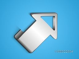 3D silver Arrow for Business concept.