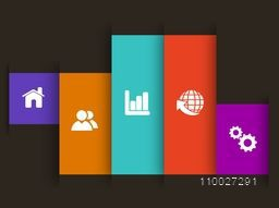 Creative infographic layout with web icons.
