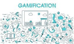 Creative Infographic elements for Gamification concept.