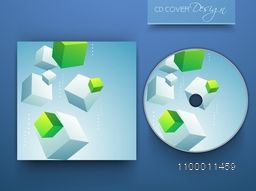 Shiny CD Cover design with 3D cubes for business.