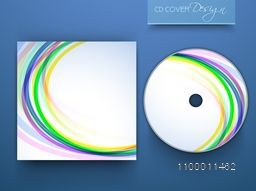 CD Cover layout with colorful abstract design.