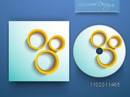 Shiny CD Cover design with 3D circles for business.