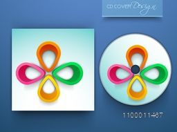 Shiny CD Cover design with abstract colorful elements.