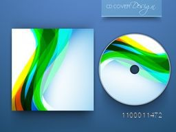 Abstract colorful waves decorated CD Cover design.