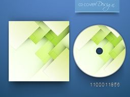 CD Cover layout with creative abstract design.