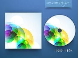 CD Cover with colorful abstract design for business concept.