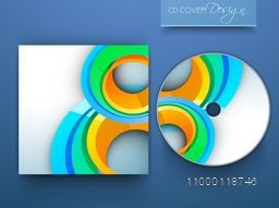 Stylish CD Cover layout with creative abstract design for business.