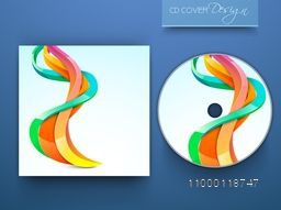 Colorful abstract waves decorated CD Cover design for business concept.