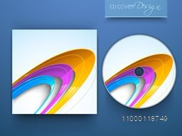 CD Cover layout with colorful abstract design for business.