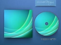 Creative shiny CD Cover design for business concept.