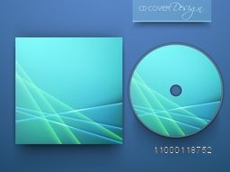 Shiny blue CD Cover design for your business.