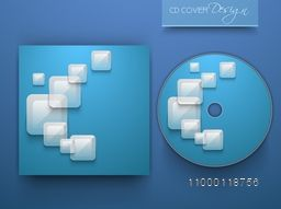 Shiny blue CD Cover design with abstract elements.