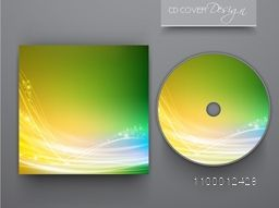 Glossy CD Cover design for business concept.