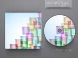 CD Cover design with abstract colorful geometric elements.