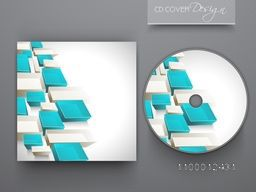 CD Cover design with abstract geometric elements for business.