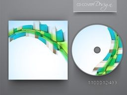 CD Cover with abstract geometric design for your business.