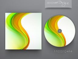 CD Cover design with creative abstract waves for business.