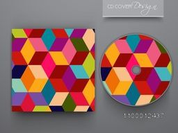 Colorful abstract CD Cover design for business.