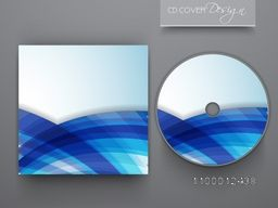 CD Cover with blue abstract design for business concept.