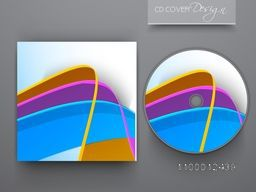CD Cover with 3D colorful abstract design for business.