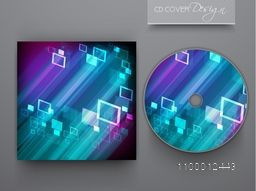 Creative CD Cover with shiny abstract design for business.