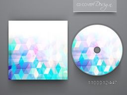 Abstract design decorated CD Cover for business concept.
