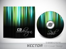 CD Cover with glossy abstract design for business concept.