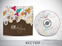 Beautiful colorful floral decorated CD Cover design.