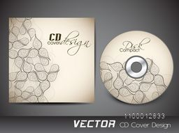 Creative CD Cover with beautiful floral design decoration.