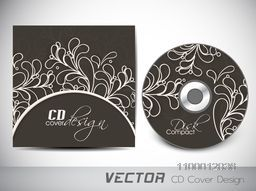 Floral design decorated CD Cover for your business.