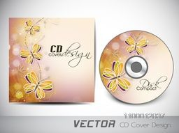 Creative CD Cover design with illustration of beautiful butterflies.