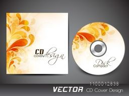 Beautiful floral design decorated CD Cover for business concept.