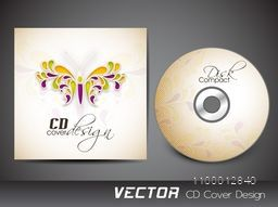 CD Cover design decorated with floral butterfly.
