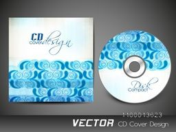 Beautiful blue floral design decorated CD Cover for business.
