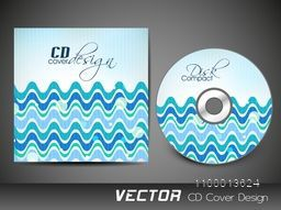 CD Cover design with blue waves for your business.