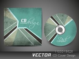 Grungy vintage CD Cover design for business.