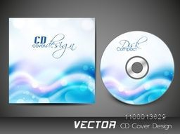 Creative CD Cover design with glossy abstract waves.
