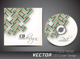 CD Cover decorated with abstract design for business.