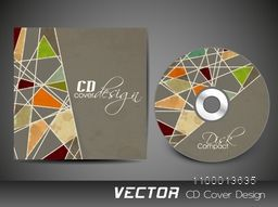 CD Cover layout with abstract geometric design.
