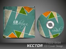 Grungy CD Cover layout with abstract design for business concept.