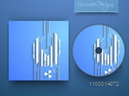 Creative CD Cover with abstract design for business concept.