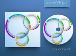 CD Cover design with colorful circles for your business.