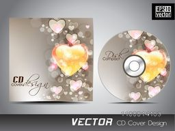 Hearts decorated CD Cover design.