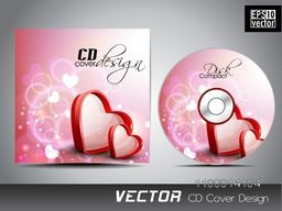 Creative CD Cover design decorated with red hearts.