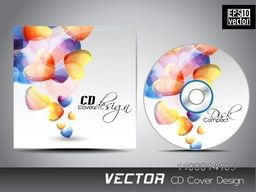 CD Cover design decorated with colorful hearts.