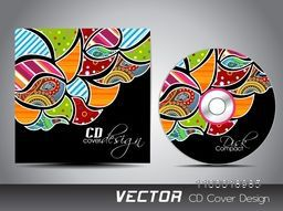 Colorful floral design decorated CD Cover design for your business.