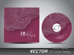 Traditional floral design decorated CD Cover design for your business.