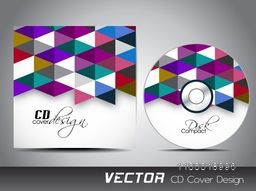 Colorful creative abstract design decorated CD Cover design for your business.