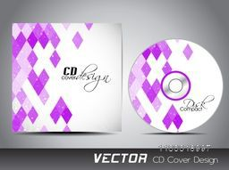 Creative CD Cover with pink abstract design for your business.